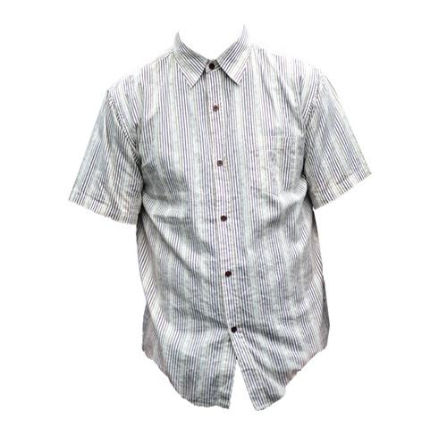 Vintage Cream Stripe Print Shirt