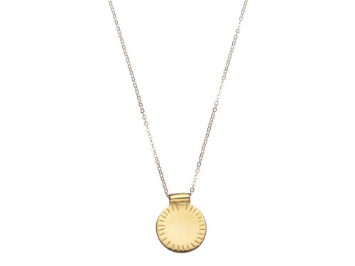 Shabana Jacobson - Sun Disk Necklace in Gold