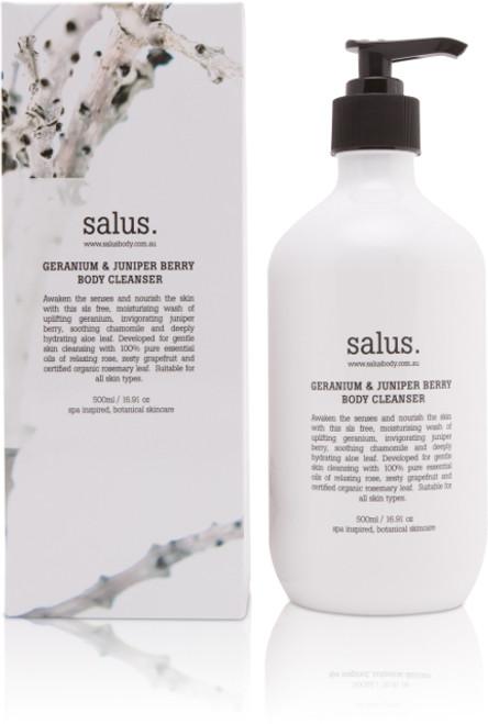 SALUS - GERANIUM & JUNIPER BERRY  BODY CLEANSER - 500ml