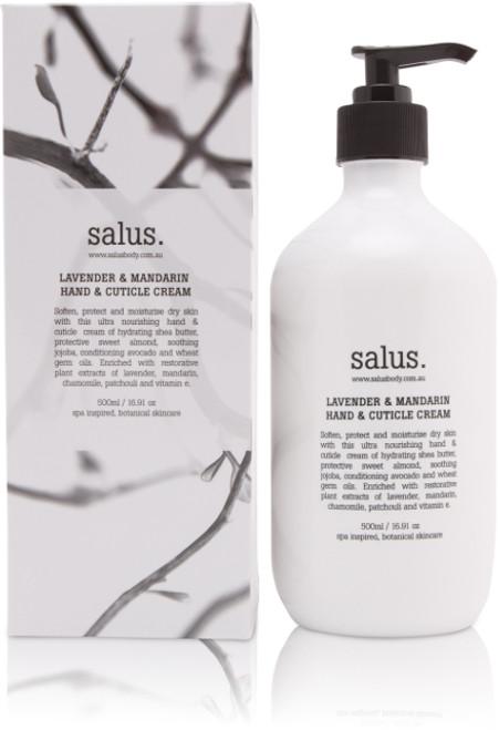 SALUS - LAVENDER & MANDARIN  HAND & CUTICLE CREAM - 500ml