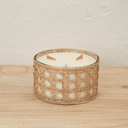 INARTISIAN - Large Rattan - Scented Candle (3 Fragrance Options)