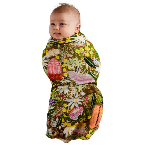 KIP & CO - Native Plantation Bamboo Swaddle
