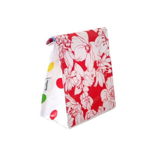 BEN ELKE - Wild Flower Red Lunch Bag
