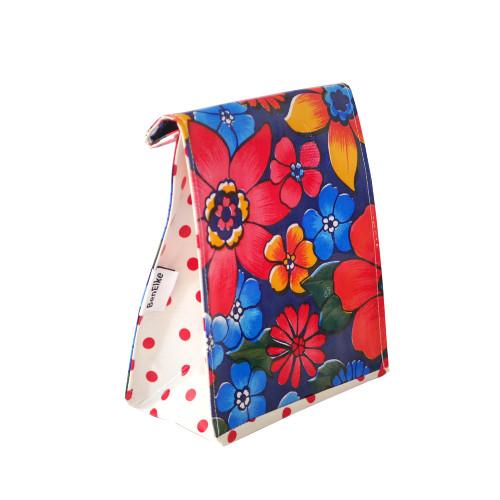 BEN ELKE - Raining Flower Black Lunch Bag