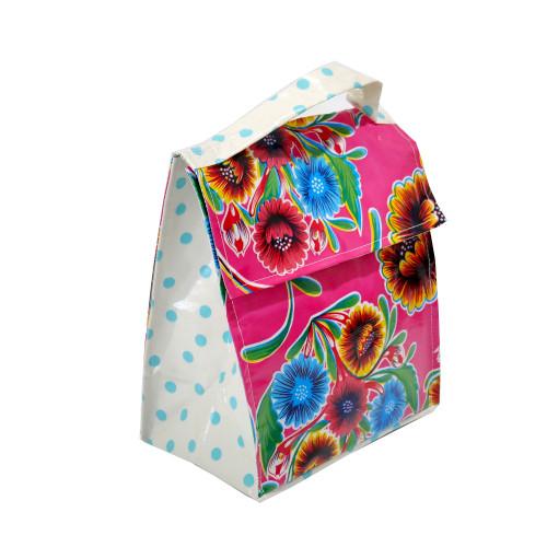 BEN ELKE - Pink Sweet Flower Insulated Lunch Bag