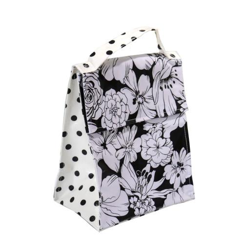 BEN ELKE - Wild Flowers Black Insulated Lunch Bag
