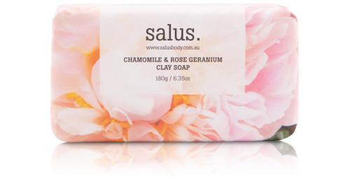 SALUS -Chamomile & Rose Geranium Clay Soap
