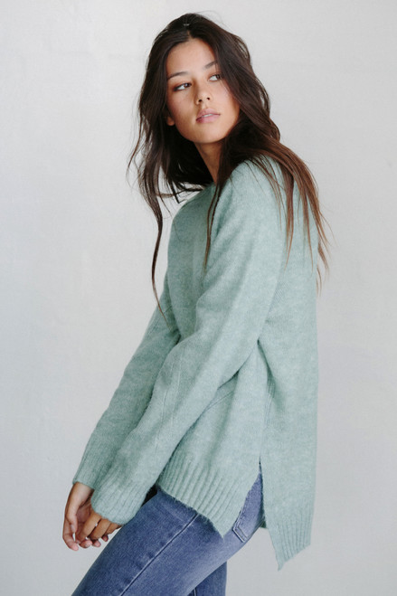 LITTLE LIES - Sage Knit Jumper