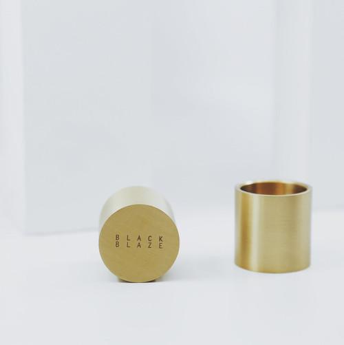 BLACK BLAZE - Column Brass Candle Holder