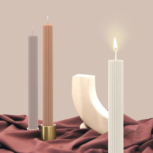 BLACK BLAZE - Column Brass Candle & Incense Holder