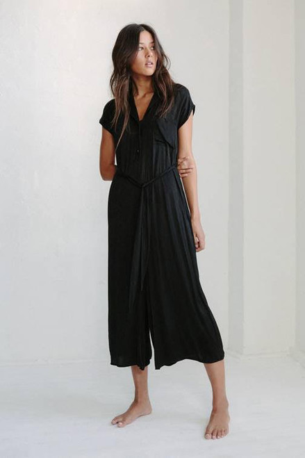 LITTLE LIES - Luxe Black Jumpsuit