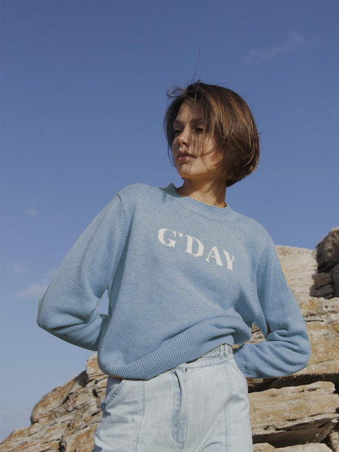 RYDER - G'day Knit Jumper Blue
