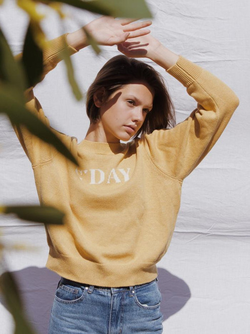 RYDER - G'day Knit Jumper Gold