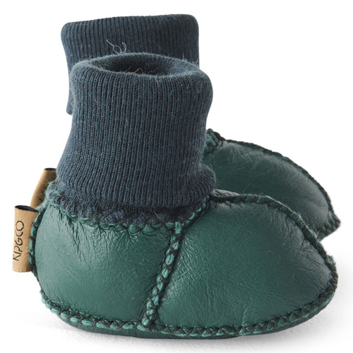 KIP & CO - Jade Green Baby Bootie