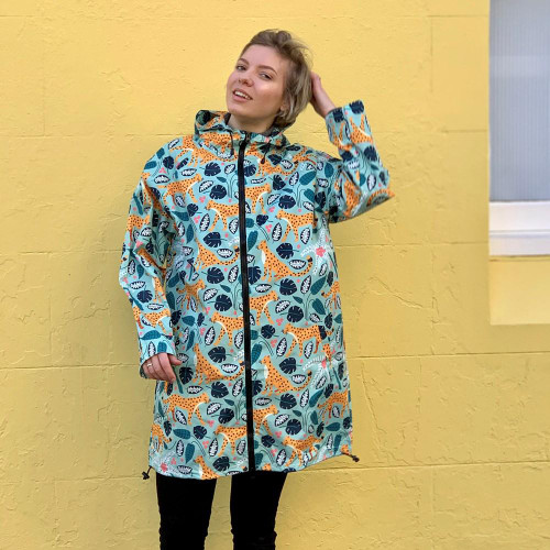 Raincoat - Mint Leopard