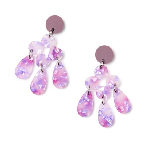 Martha Jean - Zara Earrings - Lilac