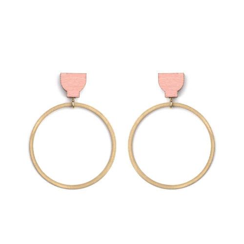 MARTHA JEAN - Hoop Earrings - Pink