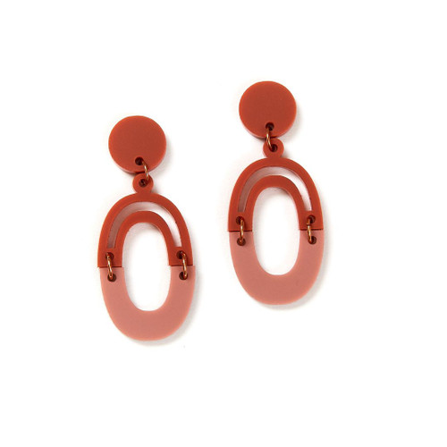Martha Jean - Link Earrings - Blush