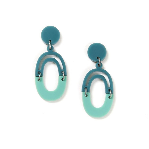 Martha Jean - Link Earrings - Sage