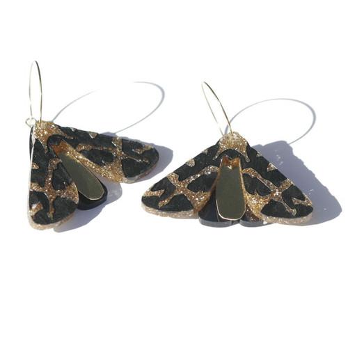 Martha Jean - Moth Earrings - Gold