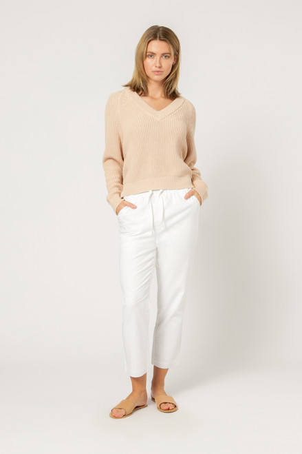 NUDE LUCY - Kimber V neck Knit - Blush
