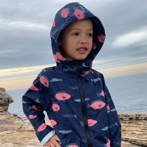 Kids Raincoat - Gen fish