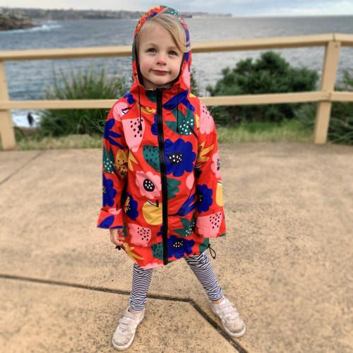 Kids Raincoat - Summer Flowers