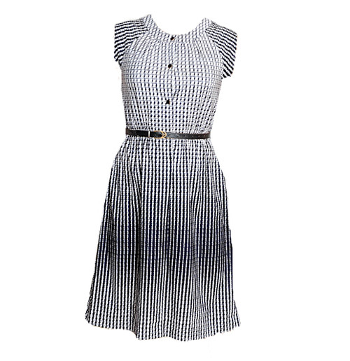 Vintage Black and White T-shirt Dress