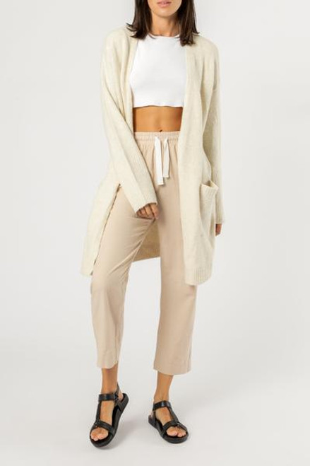 NUDE LUCY - Avery Cardigan Cream Marle