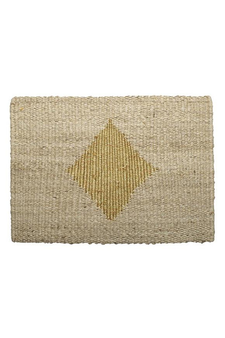 LANGDON - Diamond Door Mat - Gold / Natural
