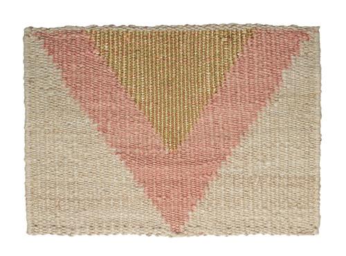 LANGDON -  Arrow Doormat - Pink / Gold