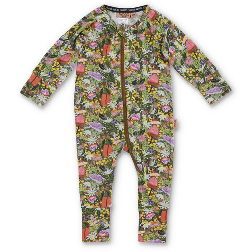 KIP & CO - Native Plantation Zip Romper