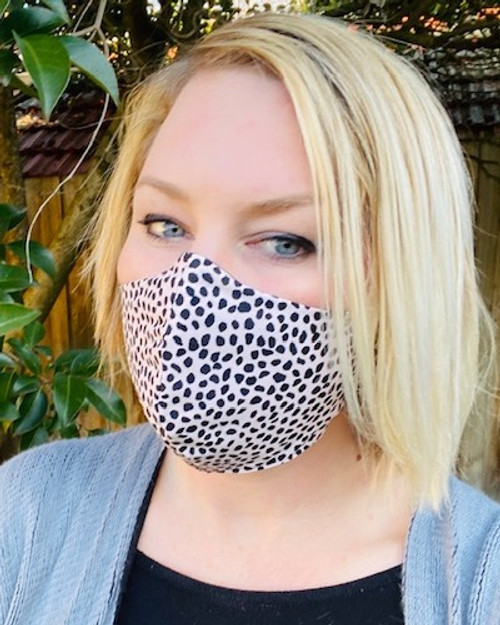 FACE MASK //  'ARTEFACTS+CO ' - Blush Leopard