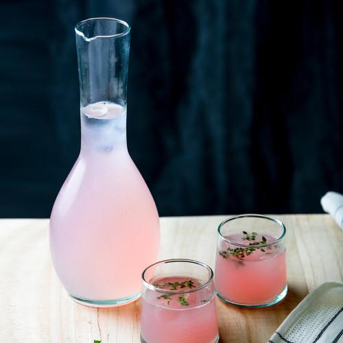 HANDMADE GLASSWARE - Carafe Bouteille Cigogne