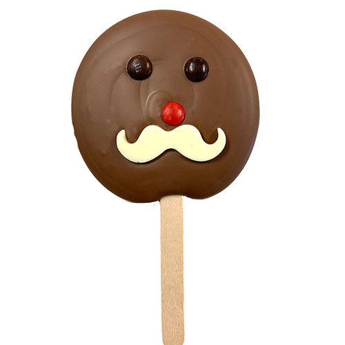FRECKLEBERRY - Moustache Pop - Milk Chocolate
