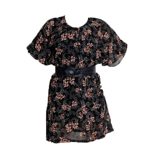 Vintage Vine Print Dress