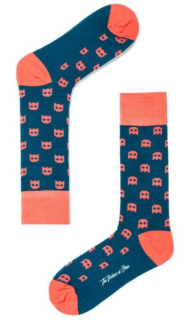 OTAA - Blue Pixel Ghost Socks