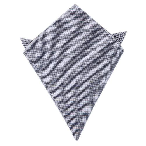 OTAA - Navy Blue Tweed Pocket Square