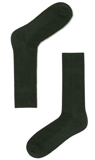 OTAA - Dark Forest Green Ribbed socks
