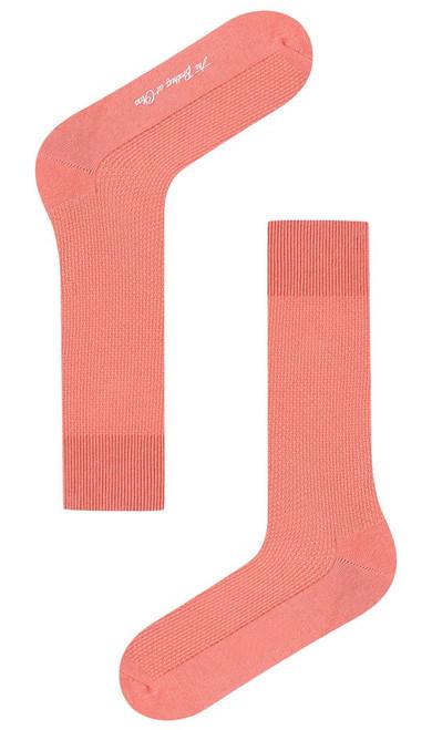 OTAA - Sunset Dark Peach Textured Socks