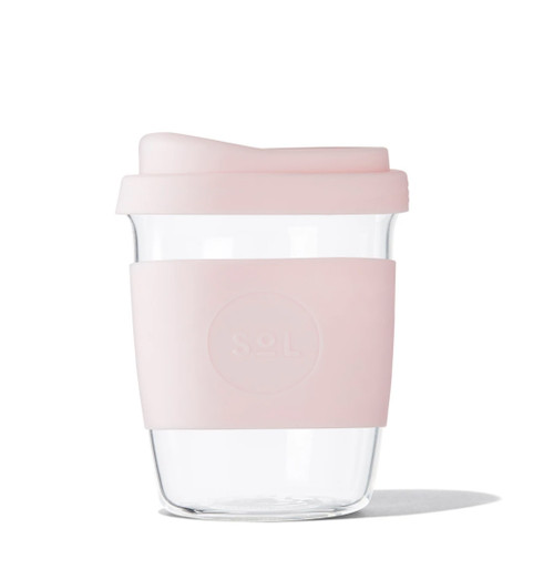 SOL - 8oz Handblown Glass Reusable Cup - Perfect Pink