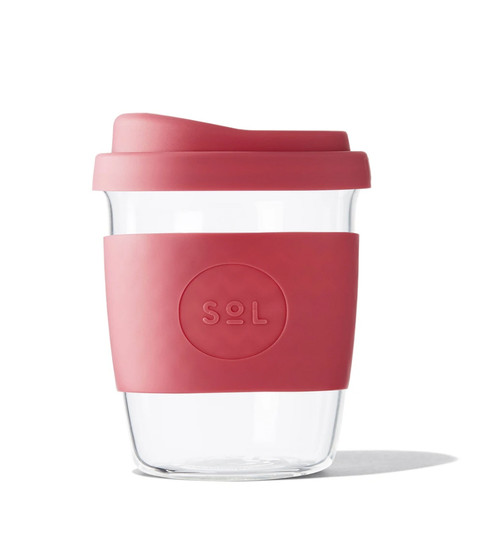 SOL - 8oz Handblown Glass Reusable Cup - Radient Rosè