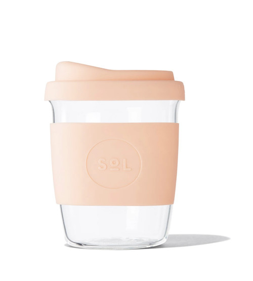 SOL - 8oz Handblown Glass Reusable Cup - Paradise Peach