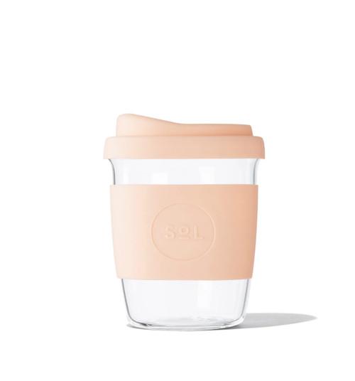 SOL - 4oz Handblown Glass Reusable Cup - Paradise Peach