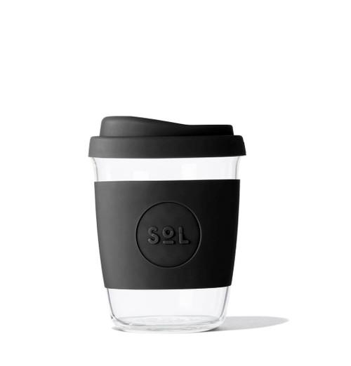 SOL - 4oz Handblown Glass Reusable Cup - Basalt Black