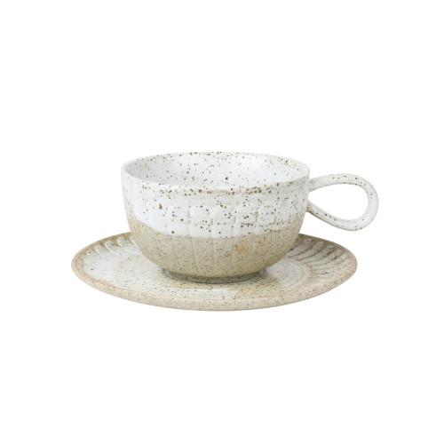 ROBERT GORDON - Cup & Saucer Set in White Ceylon