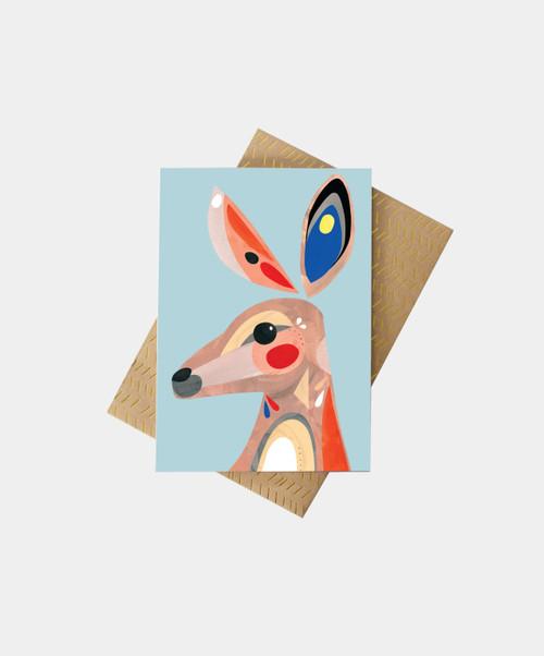 PETE CROMER - Kangaroo Greeting Card