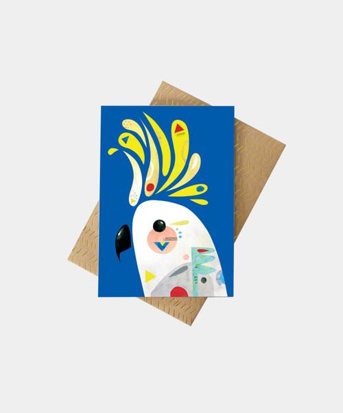PETE CROMER - Cockatoo Greeting Card