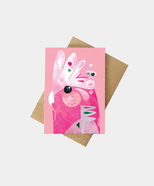PETE CROMER - Galah Greeting Card