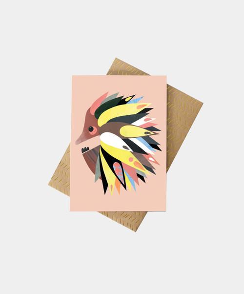 PETE CROMER - Echidna Greeting Card